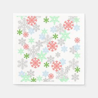 Elegant Snowflakes Disposable Napkins
