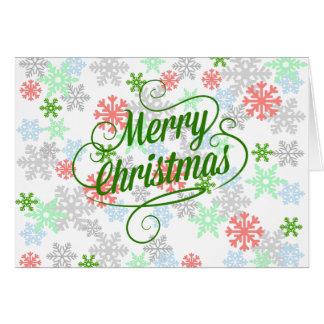Elegant Snowflakes Greeting Card