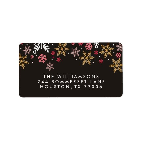 Elegant Snowflakes Personalized Holiday Labels