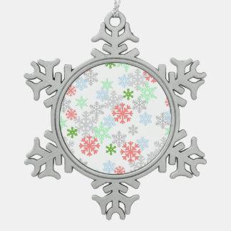 Elegant Snowflakes Pewter Snowflake Ornament