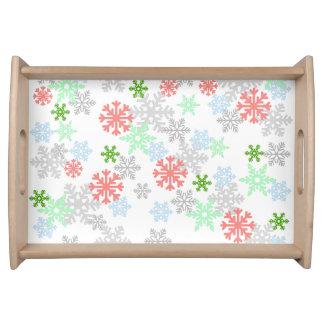 Elegant Snowflakes Service Tray