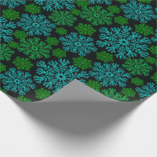 Elegant Snowflakes Winter Pattern Wrapping Paper