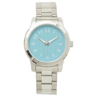 Elegant_Soft_Blue_White_Numbers Watch