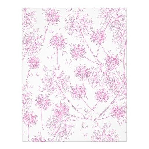 Elegant Soft Pink Dandelion Wedding Personalized Letterhead