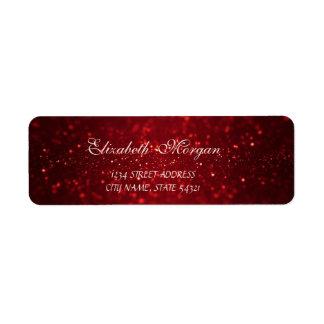 Elegant Sophisticated Bokeh Red Address