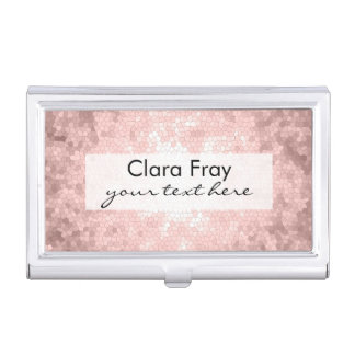 elegant sophisticated girly rose gold pattern business card holder