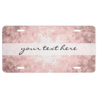 elegant sophisticated girly rose gold pattern license plate
