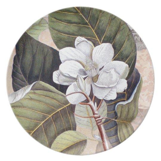 Elegant Southern White Magnolia Catesby Plate