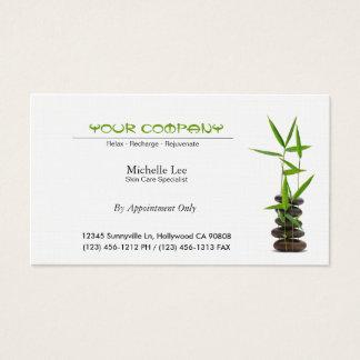 Elegant Spa / Skin Care / Massage Zen Business Card