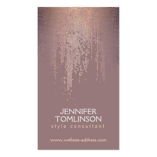 Elegant Sparkling Dot Pattern in Blush Business Card Template