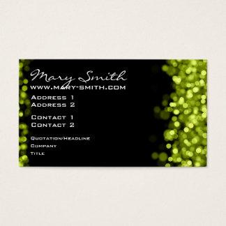 Elegant Sparkling Lights Lime Green Business Card