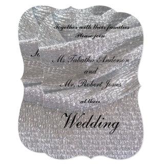 Elegant Sparkly Silver Wedding Invitations