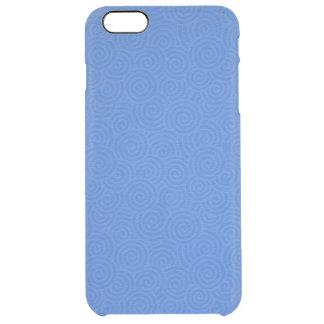 Elegant Spirals Blue Customizable Clear iPhone 6 Plus Case