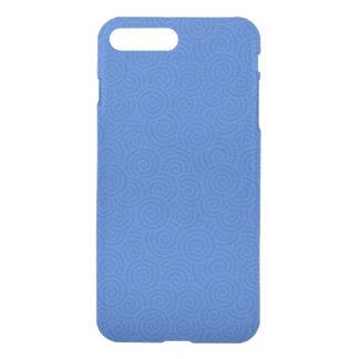 Elegant Spirals Blue Customizable iPhone 7 Plus Case