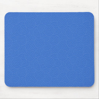 Elegant Spirals Blue Customizable Mouse Pad