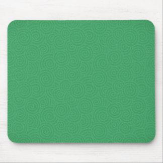 Elegant Spirals Green Custom Mouse Pad