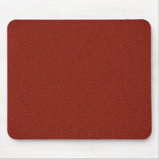 Elegant Spirals Maroon Custom Mouse Pad