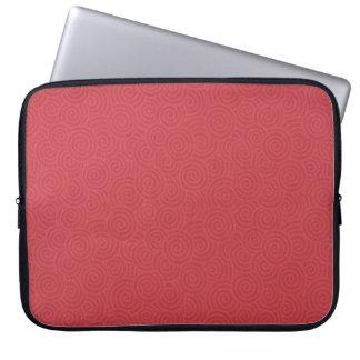 Elegant Spirals Red Custom 15 Inch Laptop Sleeve