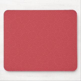 Elegant Spirals Red Custom Mouse Pad