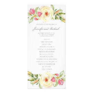 Elegant Spring Floral Peach Wedding Program