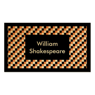 Elegant Square Pattern Business Card