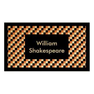 Elegant Square Pattern Business Card