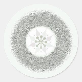 Elegant Starburst Classic Round Sticker