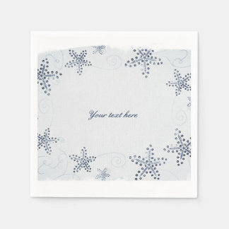 Elegant Starfish & Sequins Blue Beach Party Paper Napkin
