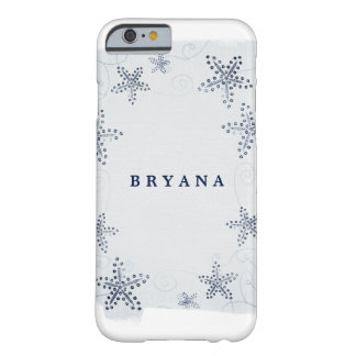 Elegant Starfish & Sequins Blue Beach Personalized Barely There iPhone 6 Case