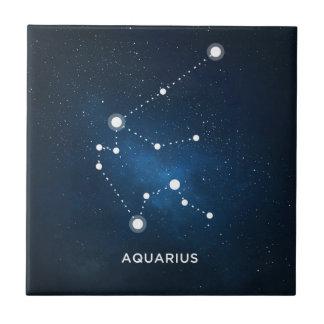 ELEGANT STARRY BLUE WATERCOLOR UNIVERSE - AQUARIUS TILES