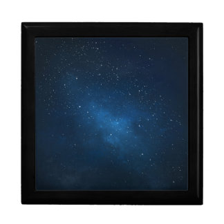 ELEGANT STARRY BLUE WATERCOLOR UNIVERSE JEWELRY BOXES