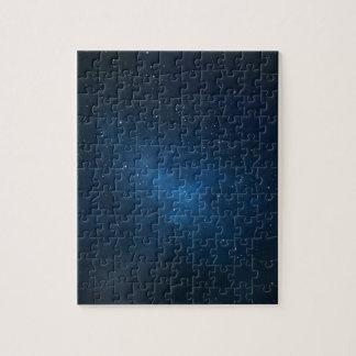ELEGANT STARRY BLUE WATERCOLOR UNIVERSE PUZZLES