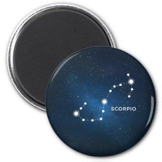 ELEGANT STARRY BLUE WATERCOLOR UNIVERSE - SCORPIO 2 INCH ROUND MAGNET