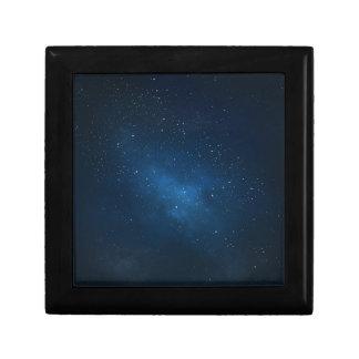 ELEGANT STARRY BLUE WATERCOLOR UNIVERSE TRINKET BOXES