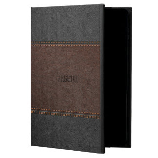 Elegant Stitched Leather In Brown And Black Powis iPad Air 2 Case