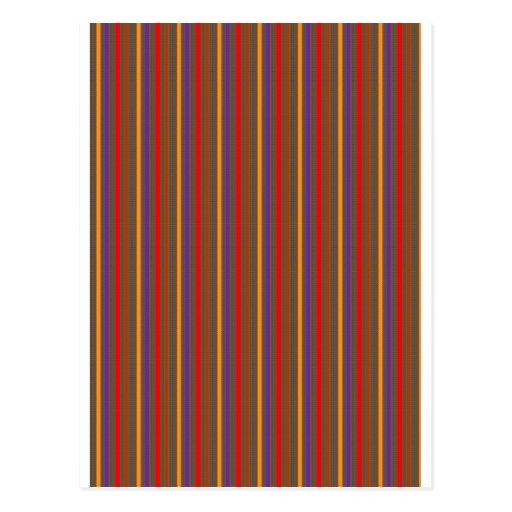 Elegant Stripe, Chocolate Brown base LOWPRICE GIFT Postcard