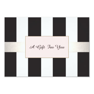 Elegant Striped Spa and Salon Gift Certificate Card