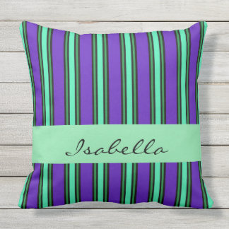 Elegant Stripes Named Throw Pillow