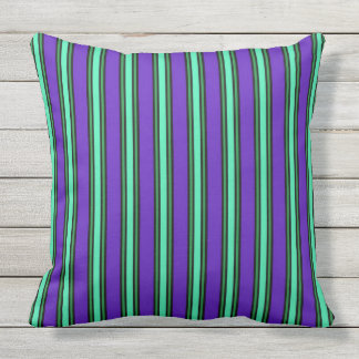 Elegant Stripes Outdoor Pillow