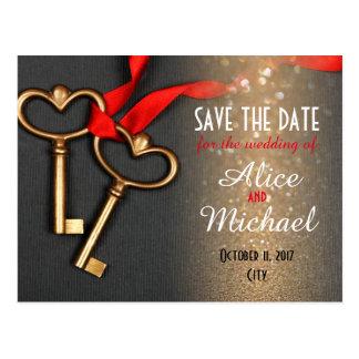 Elegant style wedding Save the date Postcard