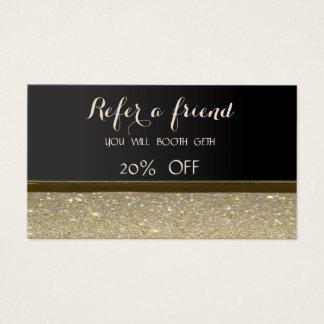 Elegant Stylish ,Black,Glittery   Referral Card