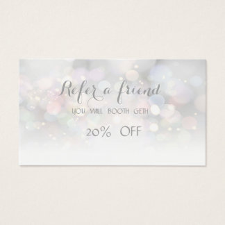 Elegant Stylish ,Bokeh   Referral Card