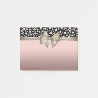 Elegant Stylish, Bow,Polka Dots Post-it Notes