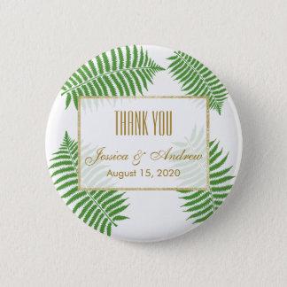 Elegant Stylish Bracken Wedding 2 Inch Round Button