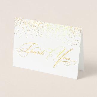 Elegant Stylish Calligraphy Script Thank You Foil Card