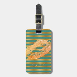 Elegant Stylish Chic - Glittery Lips,Personalized Luggage Tag