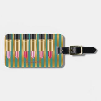 Elegant Stylish Chic -Lipsticks,Personalized Luggage Tag