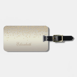 Elegant Stylish Chic - Shiny Foil Confetty-Diamond Luggage Tag