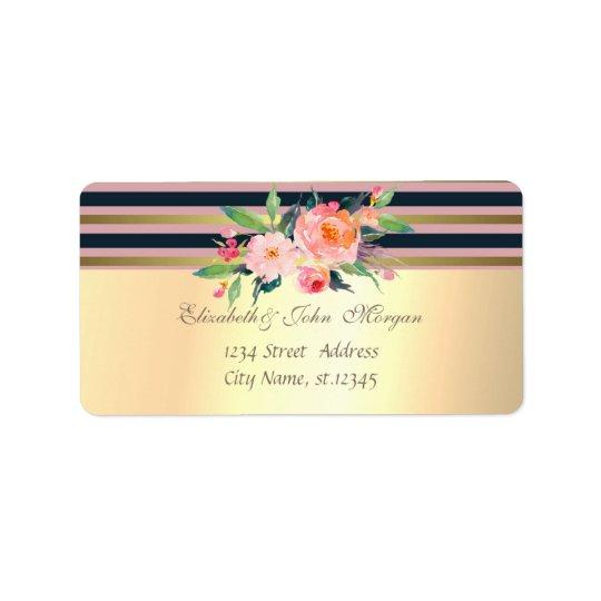Elegant  Stylish Faux Gold,Striped,Flowers