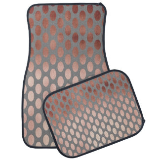 elegant stylish faux rose gold polka dots pattern car mat